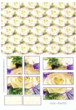 Rose Tile Greeting Card Craft Sheet